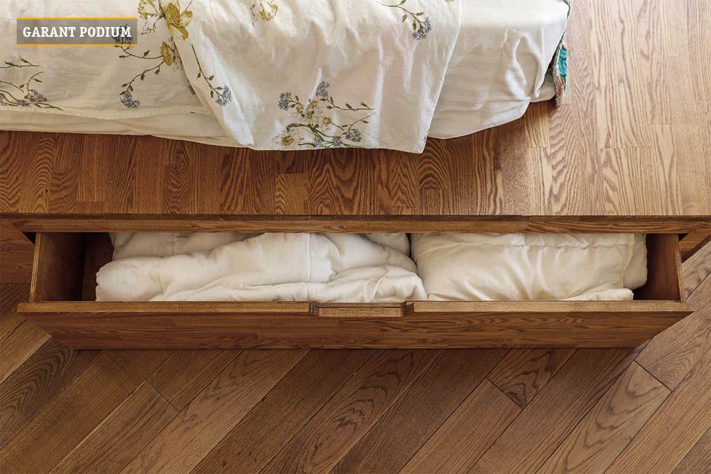 Подиум кровать с выкатными ящиками