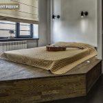 Подиум кровать в нише