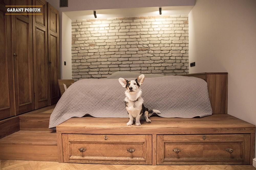 Подиум-кровать со шкафом